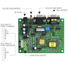 CONVERTITORE VIDEO CGA A VGA ACV-011 -A